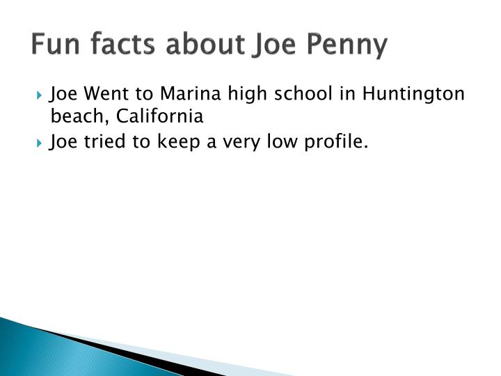 Fun facts about Joe Penny