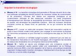 impulser la transition cologique