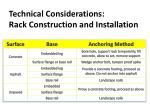 technical considerations rack construction and installation