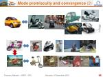 mode promiscuity and convergence 2