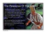 the response of the enemy