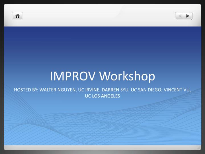 improv workshop n.