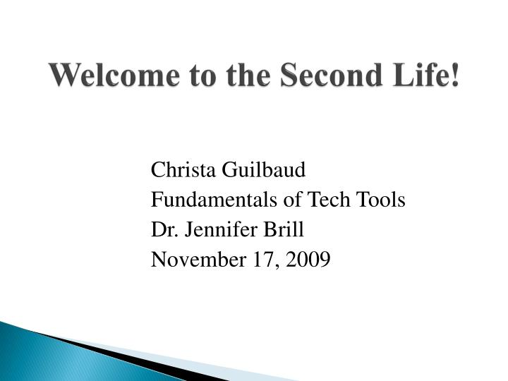 welcome to the second life n.