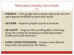 wisconsin family care goals