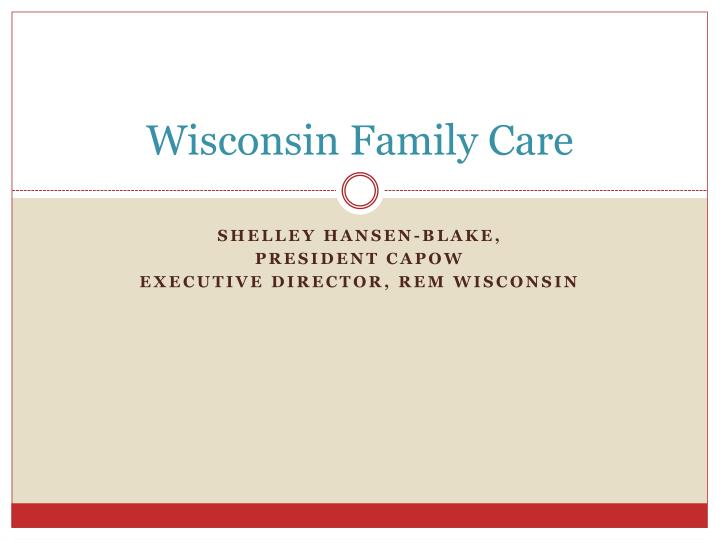wisconsin family care n.