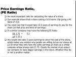 price earnings ratio pe ratio1
