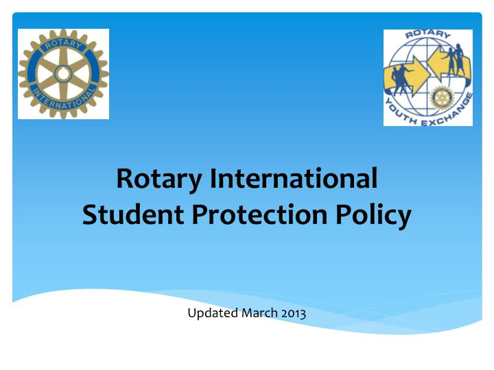 rotary international student protection policy n.