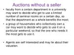 auctions without a seller