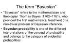 the term bayesian