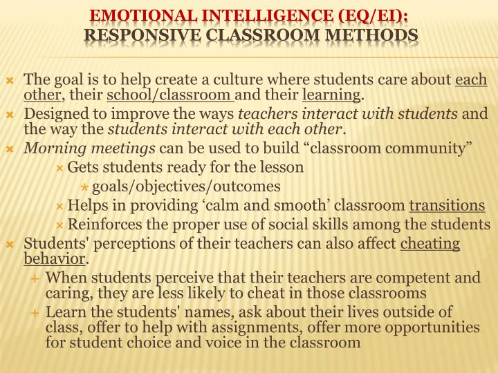 The goal is to help create a culture where students care about