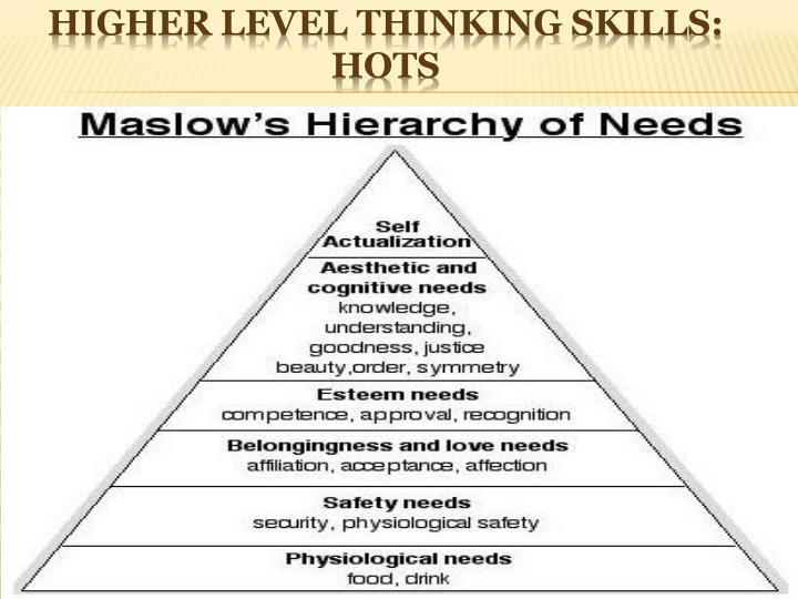 Higher Level Thinking Skills: