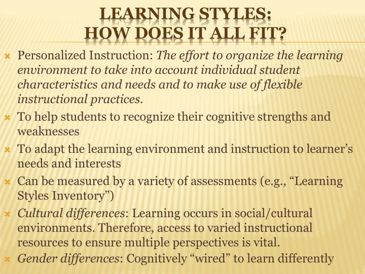 Personalized Instruction: