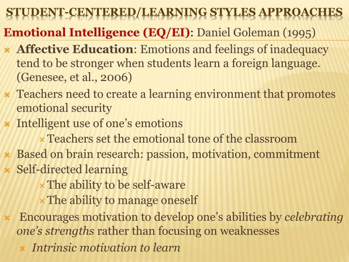 Emotional Intelligence (EQ/EI)