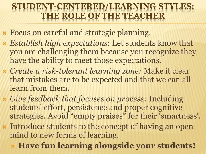 Focus on careful and strategic planning.