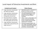 local impact of extractive investments and rent