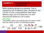 example 4 an application of combinations1