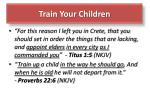 train your children1