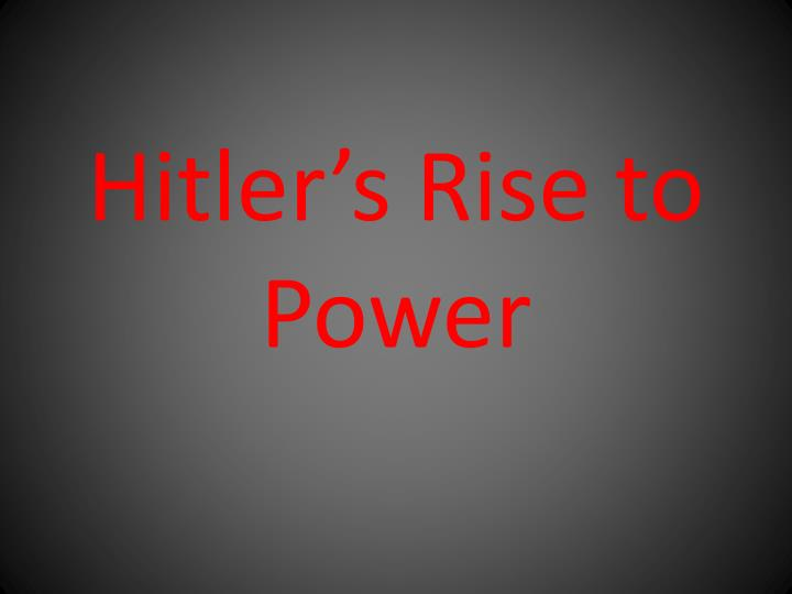 hitler s rise to power n.