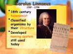 carolus linnaeus 1707 1778
