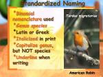 standardized naming