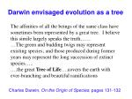 darwin envisaged evolution as a tree