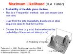 maximum likelihood r a fisher