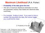 maximum likelihood r a fisher1