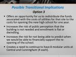 possible transitional implications1
