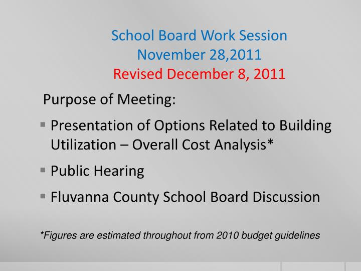 school board work session november 28 2011 revised december 8 2011 n.