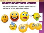 benefits of motivated workers