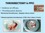 thrombectomy in ppci