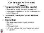 cut through vs store and forward