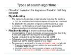 types of search algorithms