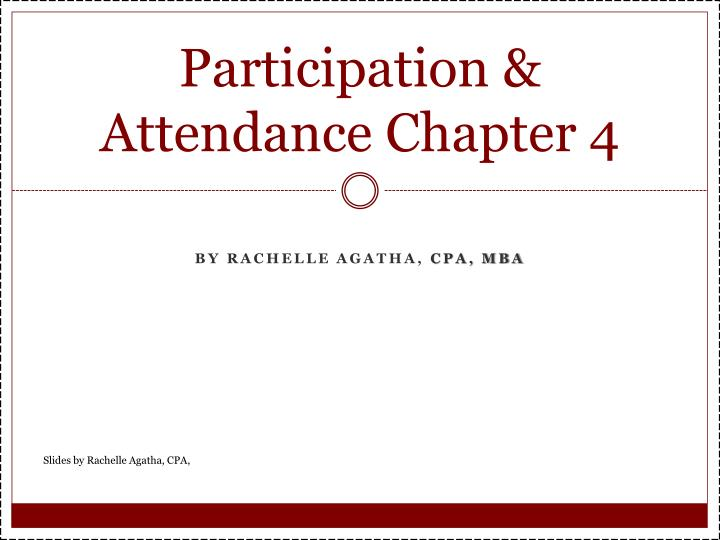 participation attendance chapter 4 n.