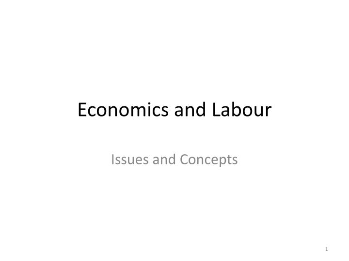 economics and labour n.