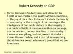 robert kennedy on gdp