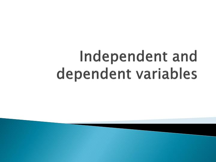independent and dependent variables n.