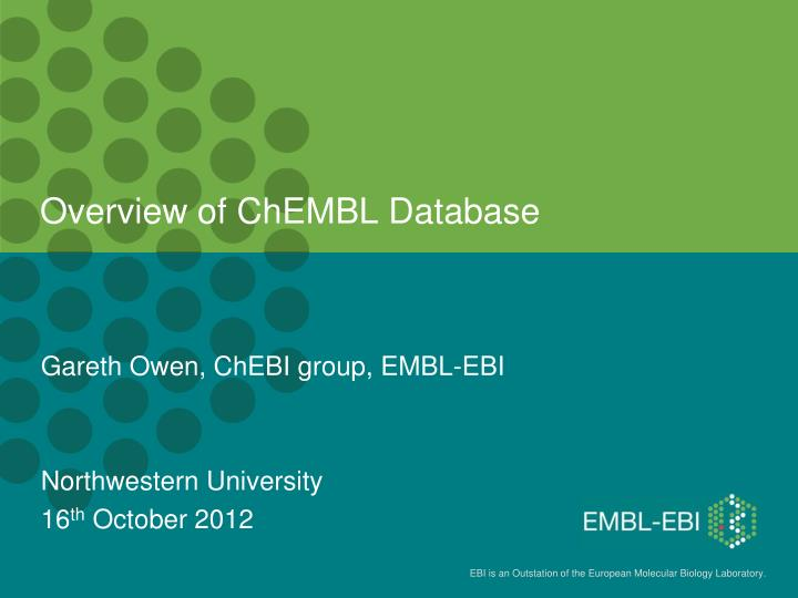 overview of chembl database n.