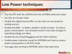 low power techniques1