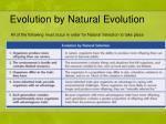 evolution by natural evolution