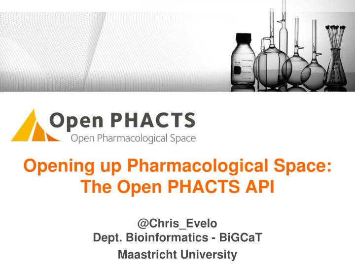 opening up pharmacological space the open phacts api n.