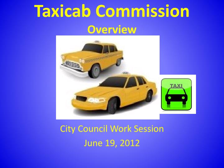 taxicab commission overview n.