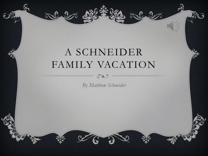 a schneider family vacation n.