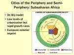 cities of the periphery and semi periphery subsaharan africa