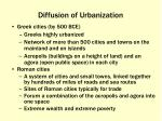 diffusion of urbanization
