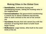 making cities in the global core1