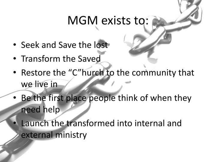 mgm exists to n.