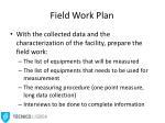 field work plan