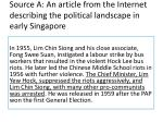 source a an article from the internet describing the political landscape in early singapore