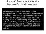 source c an oral interview of a japanese occupation survivor1